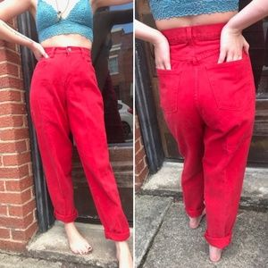 Vintage Red New York And Co Red 90's Jeans